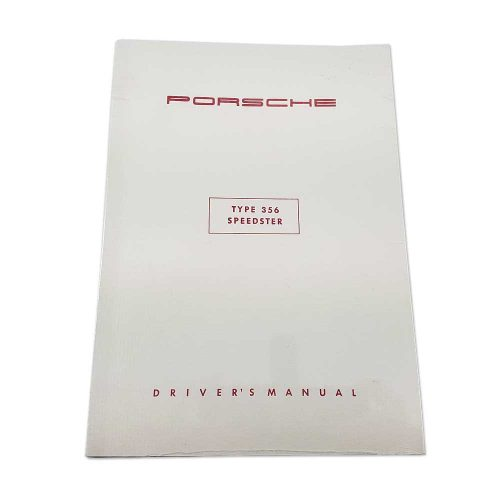 Porsche 356 Speedster Driver's Manual