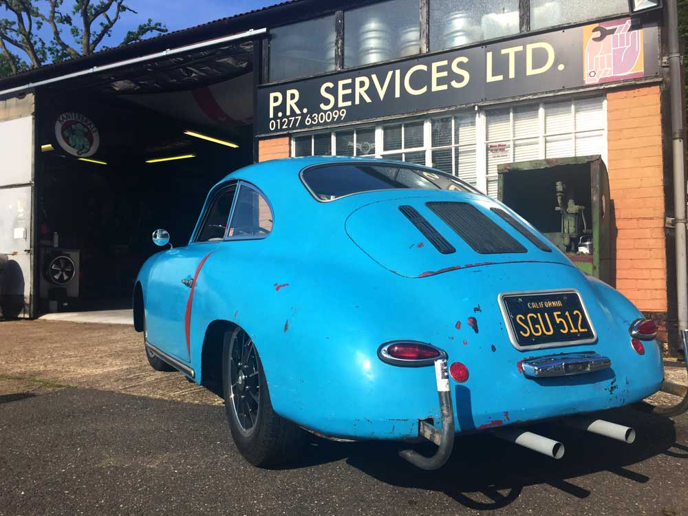 Blue Outlaw Porsche 356 1956 T1 A Coupe For Sale