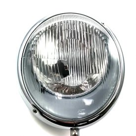 Headlamp (H4) assembly with chrome rim. (Right Hand Drive) - 911 (1965-89) 912