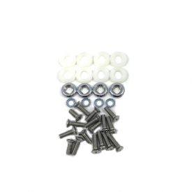 Seat Recliner Hardware Set, Chromed and Polished Screws, Washers and Nylon Spacers - 356C