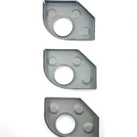 Heater Tube Support Brackets / longitudinal Reinforcement plate, Left (Simonsen Panel) - 356, 356A, 356B T5