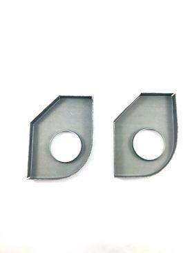 Set of 2x Heater Tube Support Brackets / Longitudinal Reinforcement Plates, Left (Simonsen Panel) - 356B T6, 356C