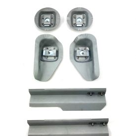 Seat Mounts Front & Rear with Toe Board Mounts (6 Piece), (Simonsen Panel)  - 356B T6, 356C