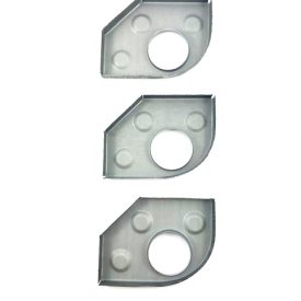 Set of 3x Heater Tube Support Brackets / Longitudinal Reinforcement Plate, Right (Simonsen Panel) - 356, 356A, 356B T5