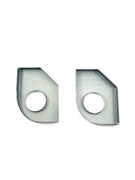 Heater Tube Support Brackets / Longitudinal Reinforcement Plates, Right (Simonsen Panel) - 356B T6, 356C