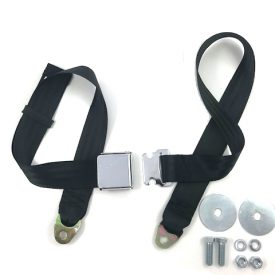 Seat / Lap Belt (Black) with Chrome Lift Lever