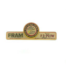 Fram Oil Filter Side Decal-Large For all 356