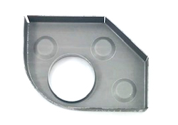 Heater Tube Support Bracket / Longitudinal Reinforcement Plate, Left (Simonsen Panel) - 356, 356A, 356B T5