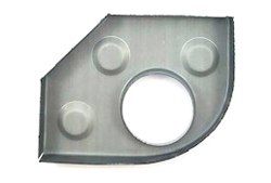 Heater Tube Support Bracket / Longitudinal Reinforcement Plate, Right (Simonsen Panel) - 356, 356A, 356B T5