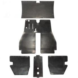 Floor Mat Rubber, Complete Set - 356 Pre A