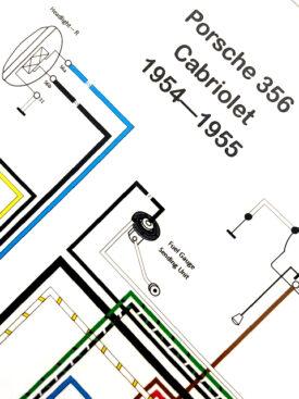 Wiring Diagram, 1954-1955 356 PreA Cabriolet