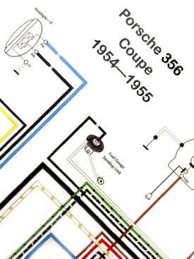 Wiring Diagram, 1954-1955 356 PreA Coupe