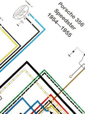 Wiring Diagram, 1954-1955 356 PreA Speedster