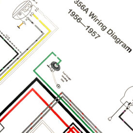 Wiring Diagram, 1956- Early 1957 356T1  (Beehive Tailights)