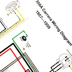 Wiring Diagram, Late 1957-1959 356T2 Carrera