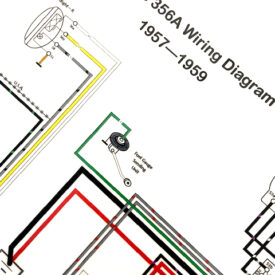 Wiring Diagram, Late 1957-1959 356T2