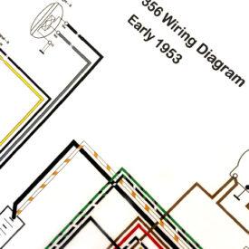Wiring Diagram, Early 1953 356 PreA  (Voltage, Reg. on Gen.)