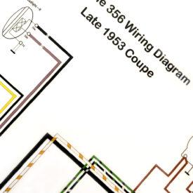 Wiring Diagram, Late 1953 356 PreA  (VR on Bulkhead or Under Dash)
