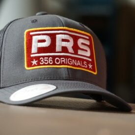 PRS 356 Trucker Cap / Hat Charcoal Grey with Red logo